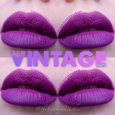 ABH VINTAGE LIPPIE Purple Lipstick, Liquid Lipstick, Hair Tips, Hair Hacks, Lip Products, Abh, Anastasia Beverly Hills, Lip Gloss, Nails