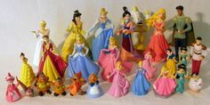 26 Miniature Disney Prince And Princesses PVC Figures And Cinderella Mice #Disney