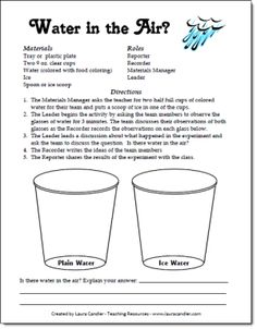 Love this easy Water in the Air Experiment to help kids understand where condensation comes from! Great for weather and water cycle units!