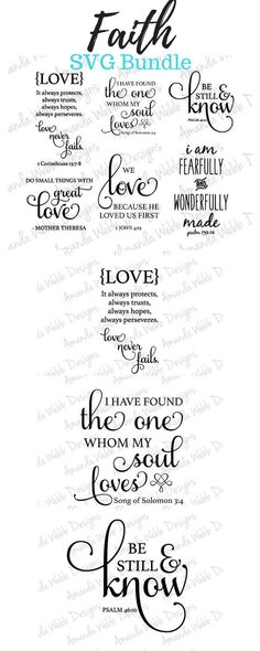 Faith SVG Bundle | Perfect to use this on SO many projects