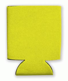 This is a sample of a YELLOW collapsible Kan Kooler. It can be custom imprinted with your message by Crown Advertising.  Order at CrownAdv.com. Key Fobs, Your Message, Drink Sleeves, Advertising, Crown, Yellow, Key Chains, Corona, Crown Royal Bags