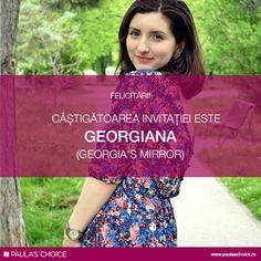 Câștigătoarea invitației la evenimentul The Best Skin of Your Life starts Today este Georgiana care ne-a impresionat prin dedicarea sa și pasiunea pe care o împărtășește referitor la domeniul cosmeticii, a sănătății pielii și a produselor cosmetice. Puteți citi articolul ei aici: http://bit.ly/georgiasmirror_entry