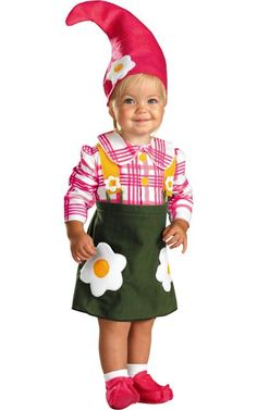 Baby Flower Garden Gnome Costume -Baby Girl Costumes -Infant, Baby Costumes -Baby, Toddler Costumes -Halloween Costumes - Party City