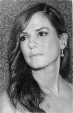 Pencil Portrait Mastery - Sandra Bullock - Pencil Portrait Discover The Secrets Of Drawing Realistic Pencil Portraits. pencil-portrait-m. - Discover The Secrets Of Drawing Realistic Pencil Portraits Pencil Portrait Drawing, Realistic Pencil Drawings, Pencil Painting, Color Pencil Art, Amazing Drawings, Portrait Art, Hyperrealistic Drawing, Graphite Art, Celebrity Portraits