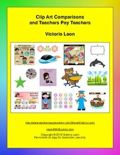 FREE Clip Art Comparisons and Teachers Pay Teachers - Go to pinterest.com/... for this and thousands of free lessons.
