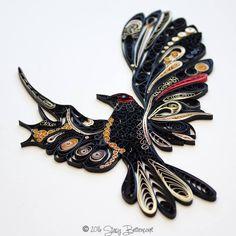 Quilled Bird in Flight - by: Stacy Lash Bettencourt