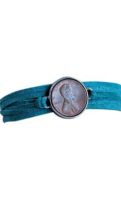 Your Good Luck Penny on Suede Wrap Bracelet.