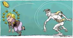 Jeux Olympiques / janvier 2015 / Daryl Cagle / Angela Merkel & l'Euro