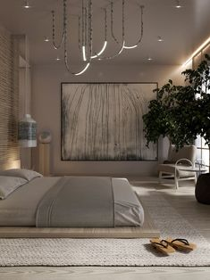 Wabi sabi on Behance Bedroom Bed Design, Modern Bedroom Design, Home Room Design, Dream Home Design, Home Bedroom, Home Interior Design, Japan Bedroom, Interior Ideas, Bedroom Ideas