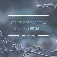 For the word of God is alive and powerful. It is sharper than the sharpest two-edged sword, cutting between soul and spirit, between joint and marrow. It exposes our innermost thoughts and desires. ‭‭Hebrews‬ ‭4:12‬‬