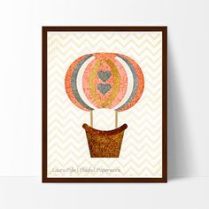 This pretty, vintage-inspired hot air balloon will add a touch of whimsy to any nursery, playroom or kid's room.