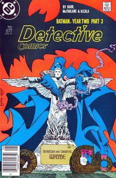 I love this cover.  Detective Comics #577, august 1987, cover by Todd McFarlane and Pablo Marcos.