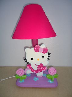 CBH Foam Crafts, Diy Crafts, Lampshades, Light Table, Ideas Para, Decoupage, Hello Kitty, Table Lamp, Woodworking