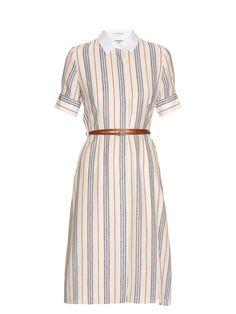 15e9daac86 Click here to buy Altuzarra Kieran striped crepe de Chine shirtdress at  MATCHESFASHION.COM Guarda