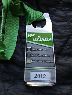 Ghost of Seattle Half Marathon 2012 medal Seattle Half Marathon, Ultra Marathon, Sports Medals, Running Medals, Run Disney, Marathons, Swag, Bucket, Racing