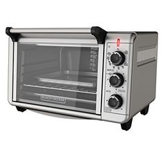BLACK DECKER TO3210SSD 6 Slice Convection Countertop Toaster Oven Includes Bake Pan