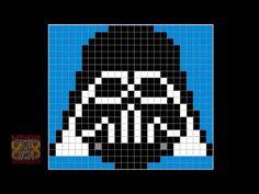 Patrón Hama Beads - Darth Vader - YouTube