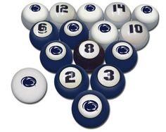 Penn State Game Room Pool Balls