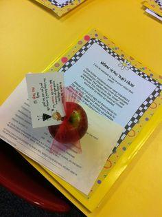 Great idea for meet the teacher!