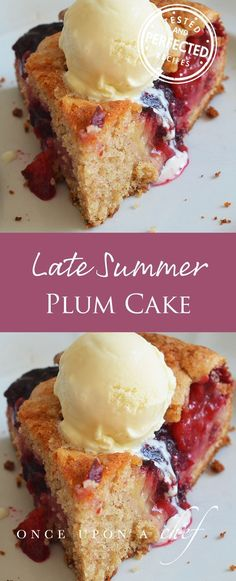 Late Summer Plum Cake - If you find yourself with a glut of plums try this cake Quartered and nestled into the batter, they soften into jammy, mulberry-colored pockets as they bake; and the addition of warm spices celebrates the summer-into-fall season. Serve it as a brunch cake, or for dessert topped with vanilla ice cream or whipped cream. #plums #cakes #testedandperfected #dessertlover #dessertgoals #sweettooth
