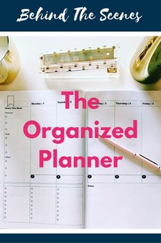 Behind The Scenes With The Organized Planner Mom Planner, Weekly Planner, Happy Planner, Office Supply Organization, Planner Organization, Organized Planner, Blog Planning, Planning Your Day, Organizing Paperwork