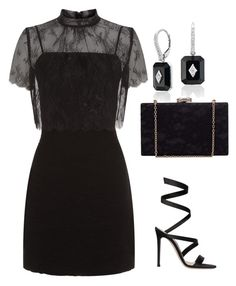 """Untitled #480"" by mchlap on Polyvore featuring Sandro and Gianvito Rossi"