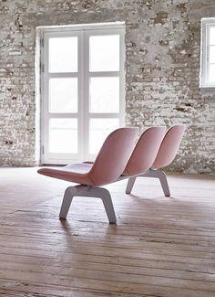 Eyes Lounge Bench by Foersom & Hiort-Lorenzen for Erik Joergensen - shown at Stockholm Furniture & Light Fair 2017.