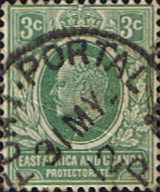 British East Africa and Uganda 1907 King Edward VII SG 35 Fine Used Scott 32 Other KUT Stamps HERE