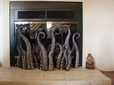 Tentacled Fireplace screen??