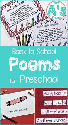 Back-to-School Poetry Packs **BUNDLE**