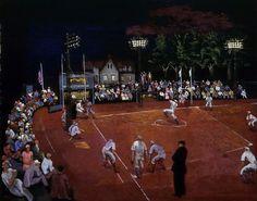 Baseball at Night :  Moris Kantor :  circa 1934  : Giclee Print #Painting