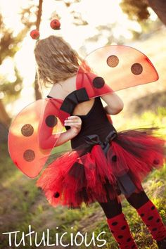 LadyBug Tutu 1yrs5T Halloween Costume by TutuliciousBoutique, $26.99