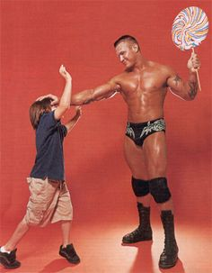 WWE Magazine [Also the time that Randy made the crew stop cursing around his young photoshoot partner.]
