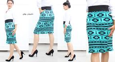 Knit Pencil Skirt Tutorial - Two Versions