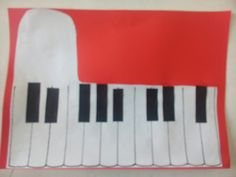 Easy piano craft for kids