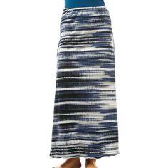 Prana Women's Kendra Skirt ($49) ❤ liked on Polyvore featuring skirts, gravel, floor length skirt, wide waistband skirt, jersey knit skirt, prana and maxi skirts