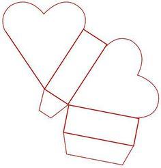 New origami box template patterns ideas Valentine Heart, Valentine Crafts, Valentines, Diy Gift Box, Diy Box, Gift Boxes, Diy Paper, Paper Crafts, Box Patterns