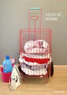 Criativo e simples: 3# No Blog da Vizinha: como reaproveitar um carrinho de feira