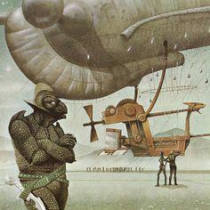 70s Sci-Fi Art: Jim Burns (via but does it float)