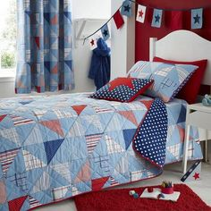 Kids Cool Patchwork Bed Linen Collection Dunelm Mill