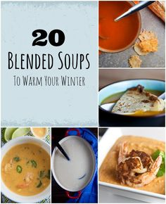 Keep warm this winter with these delicious blended soups. Finally going to make soup in my vitamix! Recetas Vitamix, Vitamix Soup Recipes, Nutribullet Recipes, Blender Recipes, Cooking Recipes, Vitamix Blender, Healthy Eating, Healthy Soups, Healthy Recipes