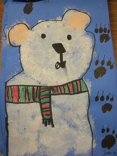 Polar bear (Instead of the snowman that I always do with the white stampers)