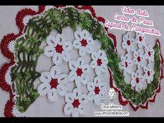 Centro de Mesa Espiral de Margaridas #crochê - Artes da Desi - YouTube