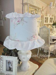 ~Sweet Melanie~: Bella Rose Blue lampshade slipcover