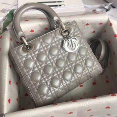 Christian Dior CD ladydior medium size 24cm leather shoulder bag Dior Handbags, Fashion Handbags, Fashion Shoes, Women's Fashion, Dior Bags, Leather Shoulder Bag, Leather Wallet, Balenciaga, Givenchy