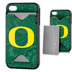 Oregon Ducks Apple iPhone 4/4s Credit Card Case