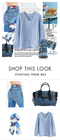 """""""Blue Fall"""" by samketina ❤ liked on Polyvore featuring Tommy Hilfiger, Coach, Chicwish and Chloé"""