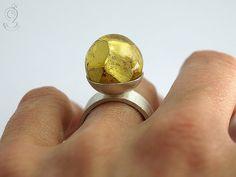 Golden ball  eye-catching ring with a by GeschmeideUnterTeck