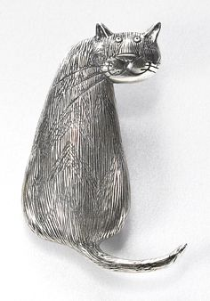 Gorey Tabby Cat Pin - The Museum Shop of The Art Institute of Chicago