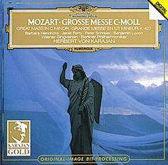 MOZART Große Messe c-moll - Karajan /  Berlin Philharmonic Orchestra / Wiener Singverein /Janet Perry /David Bell /Barbara Hendricks 1981
